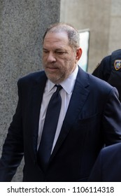 New York, NY - June 5, 2018: Harvey Weinstein arrives for arraigement on rape and criminal sex act charges at State Supreme Court