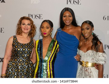 New York, NY - June 5, 2019: Sandra Bernhard, Mj Rodriguez, Dominique Jackson, Angelica Ross attend FX POSE Season 2 Premiere at The Plaza Hotel