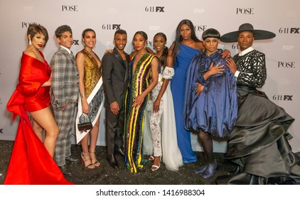 New York, NY - June 5, 2019: Main cast attends FX POSE Season 2 Premiere at The Plaza Hotel