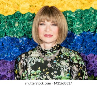 New York, NY - June 9, 2019: Anna Wintour attends the 73rd annual Tony Awards at Radio City Music Hall