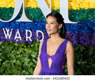 New York, NY - June 9, 2019: Lucy Liu attends the 73rd annual Tony Awards at Radio City Music Hall