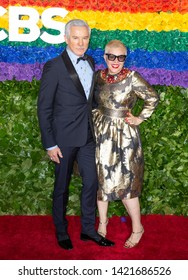 New York, NY - June 9, 2019: Baz Luhrmann and Catherine Martin attend the 73rd annual Tony Awards at Radio City Music Hall