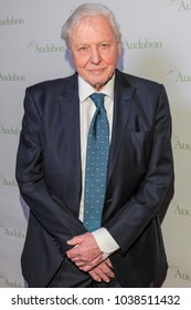 New York, NY - March 1, 2018: Sir David Attenborough attends National Audubon Society Annual Gala at Rainbow Room