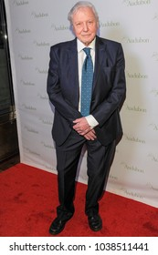 New York, NY - March 1, 2018: Sir David Attenborough attends National Audubon Society Annual Gala at Rainbow Room