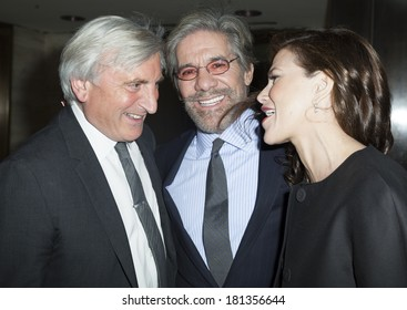 NEW YORK, NY - MARCH 11, 2014: (L-R) Julian Niccolini, Geraldo Rivera and Erica Michelle Levy attend the Love Heals 2014 Gala at Four Seasons Restaurant