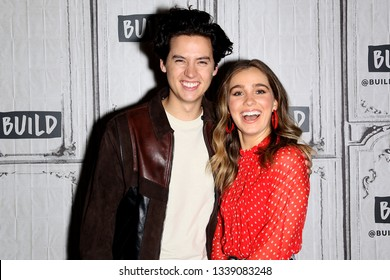 New York, NY - March 12 2019:  Cole Sprouse, Haley Lu Richardson at The Tuesday, Mar 12, 2019 BUILD Series at BUILD Studio, New York, NY