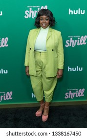 New York, NY - March 13, 2019: Loly Adelfope attends New York Hulu Shrill premiere screening at Walter Reade Theater of Lincoln Center
