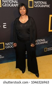 New York, NY - March 14, 2018: Mae Jemison attends National Geographic world premiere screening of One Strange Rock at Alice Tully Hall