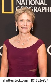 New York, NY - March 14, 2018: Peggy Whitson attends National Geographic world premiere screening of One Strange Rock at Alice Tully Hall