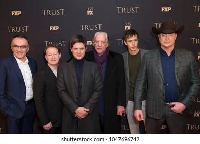 New York, NY - March 15, 2018: Danny Boyle, Simon Beaufoy, Michael Esper, Donald Sutherland, Harris Dickinson, Brendan Fraser attend FX Annual All-Star Party at SVA theater