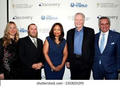 New York, NY - March 28 2019:  Debbie Boteach, Rabbi Shmuley Boteach, Dana White, Jon Voight at The 7th Annual Champions of Jewish Values International Awards Gala at Carnegie Hall, New York, NY