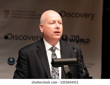 New York, NY - March 28, 2019: White House advisor on Israel Jason Greenblatt speaks during 7th Annual Champions of Jewish Values Gala at Carnegie Hall