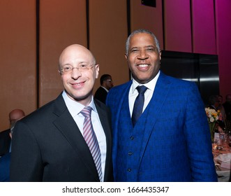 New York, NY - March 3, 2020: Elisha Wiesel and Robert F. Smith attend 8th Annual Champions of Jewish Values Gala at Carnegie Hall