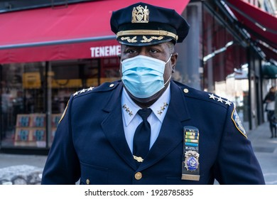 New York, NY - March 3, 2021: Chief Jeffrey Maddrey attends during Police Commissioner Dermot Shea press conference to combat graffiti and improve quality of life on Orchard Street