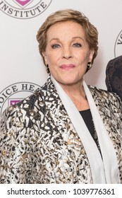 New York, NY - March 5, 2018: Julie Andrews attends the Raise Your Voice concert to benefit 15th anniversary Voice Health Institute fund at Alice Tully Hall