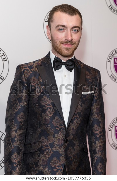 New York, NY - March 5, 2018: Sam Smith attends the Raise Your Voice concert to benefit 15th anniversary Voice Health Institute fund at Alice Tully Hall