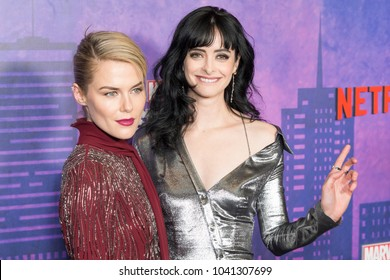New York, NY - March 7, 2018: Rachael Taylor and Krysten Ritter attends Marvel Jessica Jones Season 2 Premiere at AMC Loews Lincoln Square