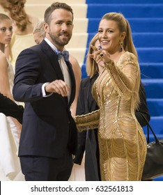 NEW YORK, NY - MAY 01, 2017: Ryan Reynolds and Blake Lively attend the 'Rei Kawakubo/Comme des Garcons: Art Of The In-Between' Costume Institute Gala at Metropolitan Museum of Art