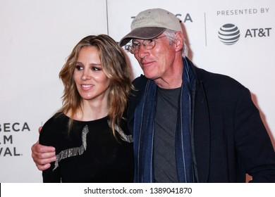 "NEW YORK, NY - MAY 03. 2019: Alejandra Silva and Richard Gere attends at  ""It Takes A Lunatic""  2019 Tribeca Film Festival at Stella Artois Theater at BMCC Tribeca Performing Arts Center"