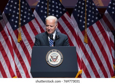 New York, NY - May 10, 2016: Joe Biden speaks on stage during Joyful Heart Foundation honors Vice President Joe Biden at Joyful Revolution Gala at Lincoln Center
