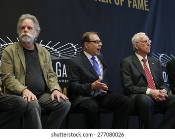 New York, NY - May 11, 2015: Bob Weir, George Kalinsky, Eddie Giacomin attend the Madison Square Garden 2015 Walk of Fame Inductions Ceremony at Madison Square Garden