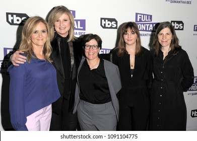 NEW YORK, NY - MAY 14: (L-R) Samantha Bee, Arianna Huffington, Kara Swisher, Amber Tamblyn and Cynthia Littleton attend the 'Full Frontal with Samantha Bee' FYC Event NY on May 14, 2018 in New York.