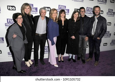 NEW YORK, NY - MAY 14: (L-R) Kara Swisher, Samantha Bee, Arianna Huffington, David Levy, Samantha Bee, Amber Tamblyn, Cynthia Littleton, Brett Weitz and Thom Hinkle on May 14, 2018 in New York City.