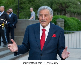 New York, NY - May 15, 2019: Tony Bennett arrives at the Statue Of Liberty Museum Opening Celebration at Battery Park