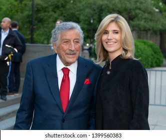 New York, NY - May 15, 2019: Tony Bennett and Susan Crow arrive at the Statue Of Liberty Museum Opening Celebration at Battery Park