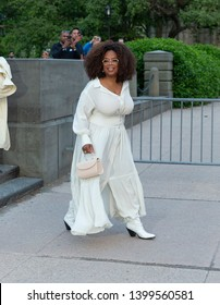 New York, NY - May 15, 2019: Oprah Winfrey arrives at the Statue Of Liberty Museum Opening Celebration at Battery Park