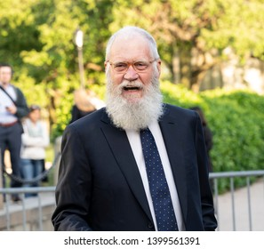 New York, NY - May 15, 2019: David Letterman arrives at the Statue Of Liberty Museum Opening Celebration at Battery Park