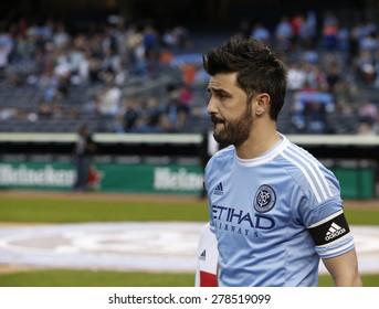 New York, NY - May 15, 2015: David Villa of NYCFC poses befor the game between New York City Football Club and Chicago Fire FC at Yankee Stadium