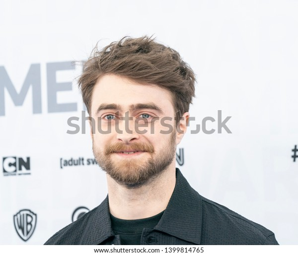 New York, NY - May 15, 2019: Daniel Radcliffe attends WarnerMedia Upfront 2019 arrivals outside of The Theater at Madison Square Garden