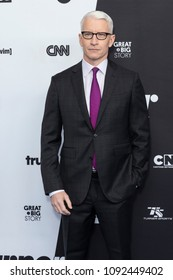 New York, NY - May 16, 2018: Anderson Cooper attends the 2018 Turner Upfront at One Penn Plaza