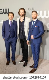 New York, NY - May 17, 2018: Misha Collins, Jared Padalecki and Jensen Ackles attend 2018 CW network Upfront at London Hotel