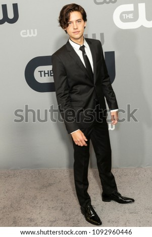 New York, NY - May 17, 2018: Cole Sprouse attends 2018 CW network Upfront at London Hotel