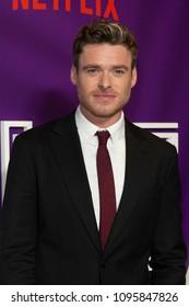 New York, NY - May 21, 2018: Richard Madden attends screening of Netflix film Ibiza at AMC Loews Lincoln Center
