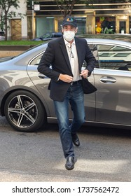 New York, NY - May 21, 2020: President Trump's former personal attorney Michael Cohen arrives at his Park Avenue home after being released from federal prison on furlough because of COVID-19 pandemic