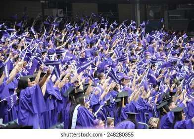 NEW YORK, NY - MAY 22: New York University (NYU) 181st Commencement Ceremony at the Yankee Stadium in New York City, as seen on May 22, 2013. Over 14000 degree students graduated at the ceremony..