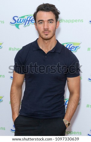 New York, NY - May 23, 2018: Kevin Jonas promotes Pet Adoption During National Pet Month at Home Studios sponsored by Swiffer