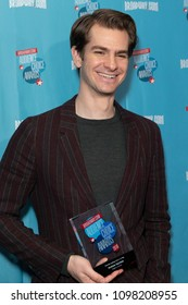 New York, NY - May 24, 2018: Andrew Garfield attends Broadway.com Audience Choice Awards celebration at 48 Lounge