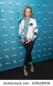 New York, NY - May 24, 2018: Uma Thurman attends Broadway.com Audience Choice Awards celebration at 48 Lounge