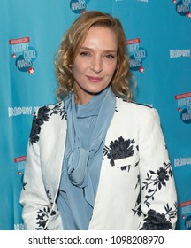 New York, NY - May 24, 2018: Uma Thurman attends Broadway.com Audience Choice Awards celebration at 48 Lounge
