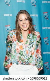 New York, NY - May 24, 2018: Erika Henningsen wearing top by Alice + Olivia attends Broadway.com Audience Choice Awards celebration at 48 Lounge