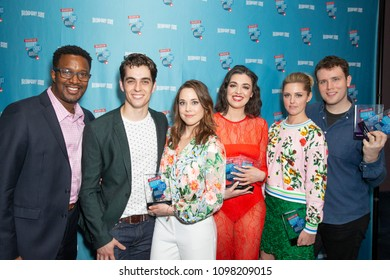 New York, NY - May 24, 2018: Cast of musical Mean Girls attends Broadway.com Audience Choice Awards celebration at 48 Lounge