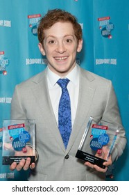 New York, NY - May 24, 2018: Ethan Slater attends Broadway.com Audience Choice Awards celebration at 48 Lounge