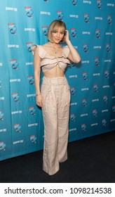 New York, NY - May 24, 2018: Katharine McPhee wearing dress by Zimmermann attends Broadway.com Audience Choice Awards celebration at 48 Lounge