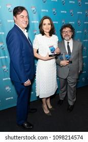 New York, NY - May 24, 2018: John Gore, Tina Fey, Jeff Richmond attends Broadway.com Audience Choice Awards celebration at 48 Lounge