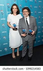 New York, NY - May 24, 2018: Tina Fey, Jeff Richmond attend Broadway.com Audience Choice Awards celebration at 48 Lounge