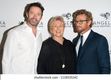 NEW YORK, NY - MAY 24: (L-R) Hugh Jackman, Deborrah-Lee Furness and Simon Baker attend the 'Breath' New York screening at Angelika Film Center on May 24, 2018 in New York City.